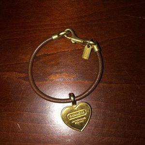 Leather Coach bracelet
